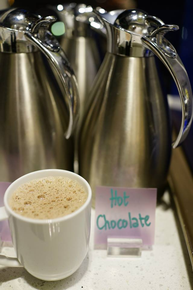 The hot chocolate is rich and flavourful! A great end to the buffet!
