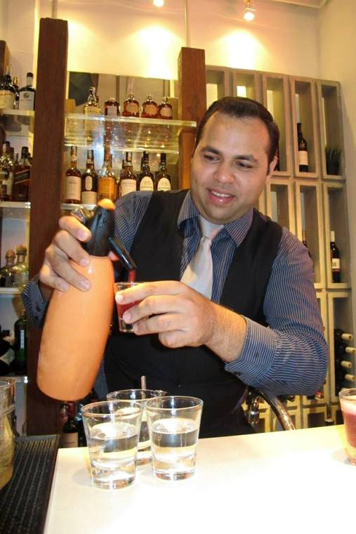 The cocktails were concocted by mixologist Timothy Jason, who's a familiar face in the mixology scene