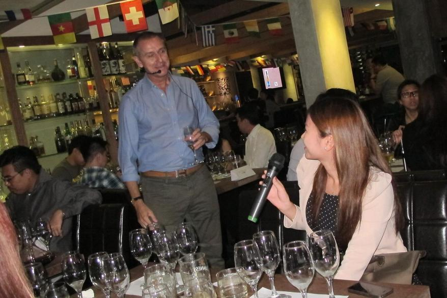 It was an intimate session where guests could ask questions and share their opinions on the wines