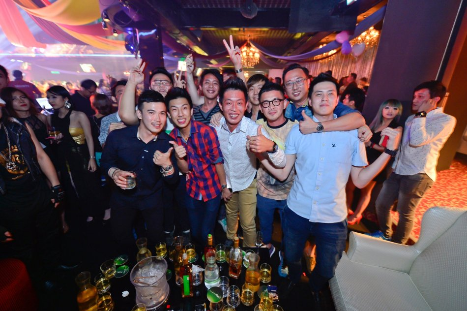 Partygoers having a good time!
