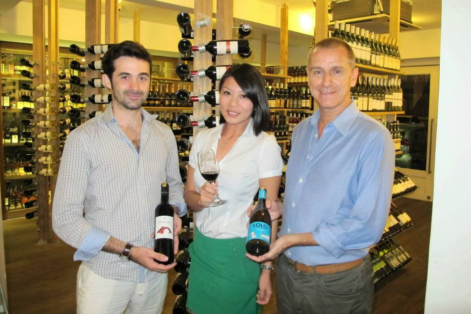 Shen Yee with Florian and Jorge from Iconic Wines Malaysia