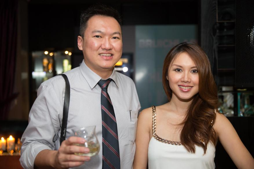 With the pretty Julie Woon who's actually my junior in high school!