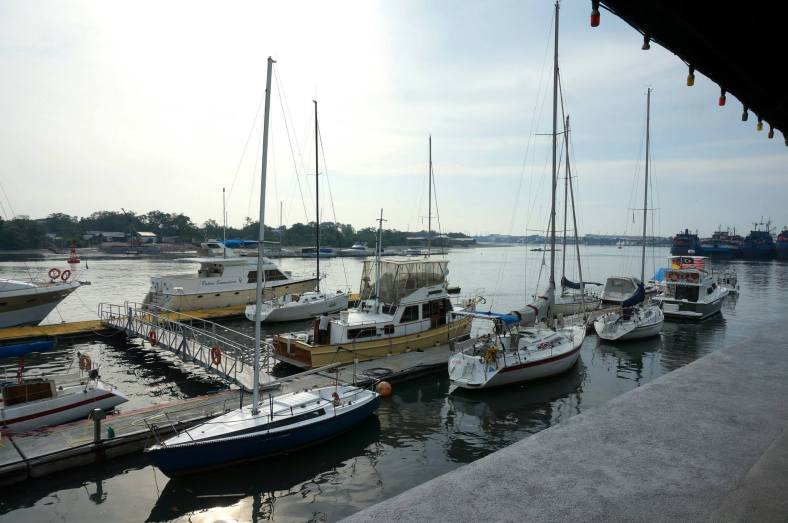 There were a couple of yachts moored at the Royal Selangor Yacht Club and we were wondering which we were going to be sailing on