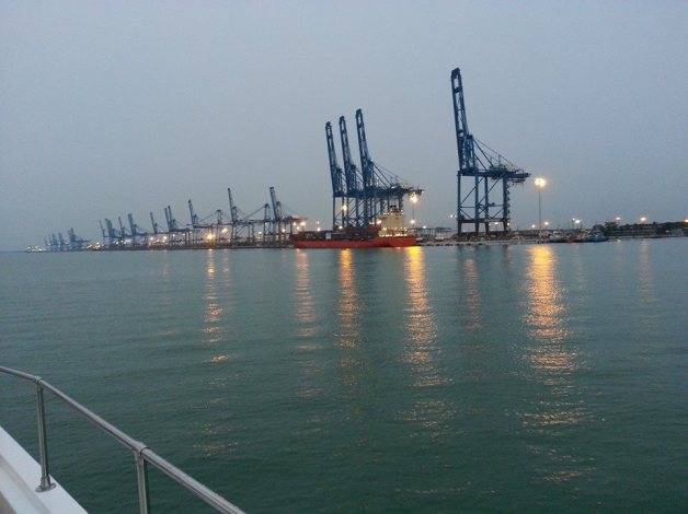A view of the port as we cruised out into the Straits of Malacca