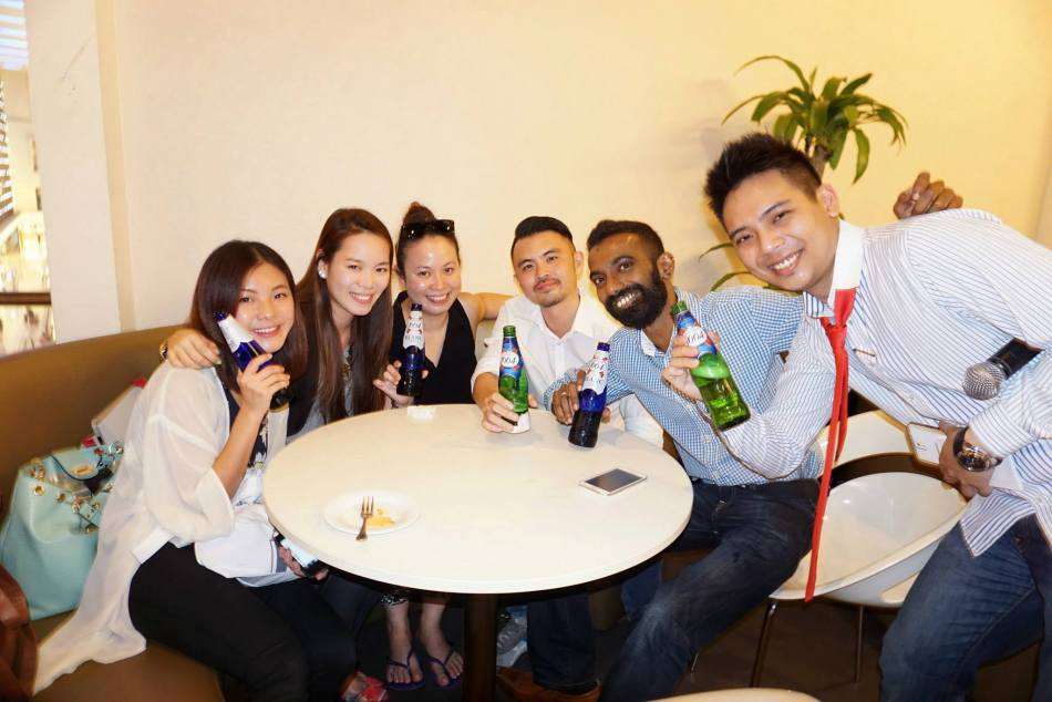 Everyone was happy to chill and unwind after a long working week
