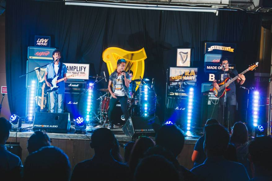 Paperplane Pursuit rocking the stage