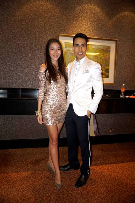 KL's number 1 socialite Raj Aria looking very debonair in his role as the MC for the event (pictured here with our friend June Yap)