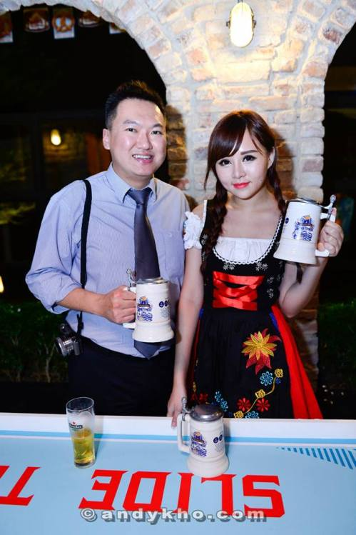 Holding GAB's Oktoberfest 2014 stein with the pretty Cherrie
