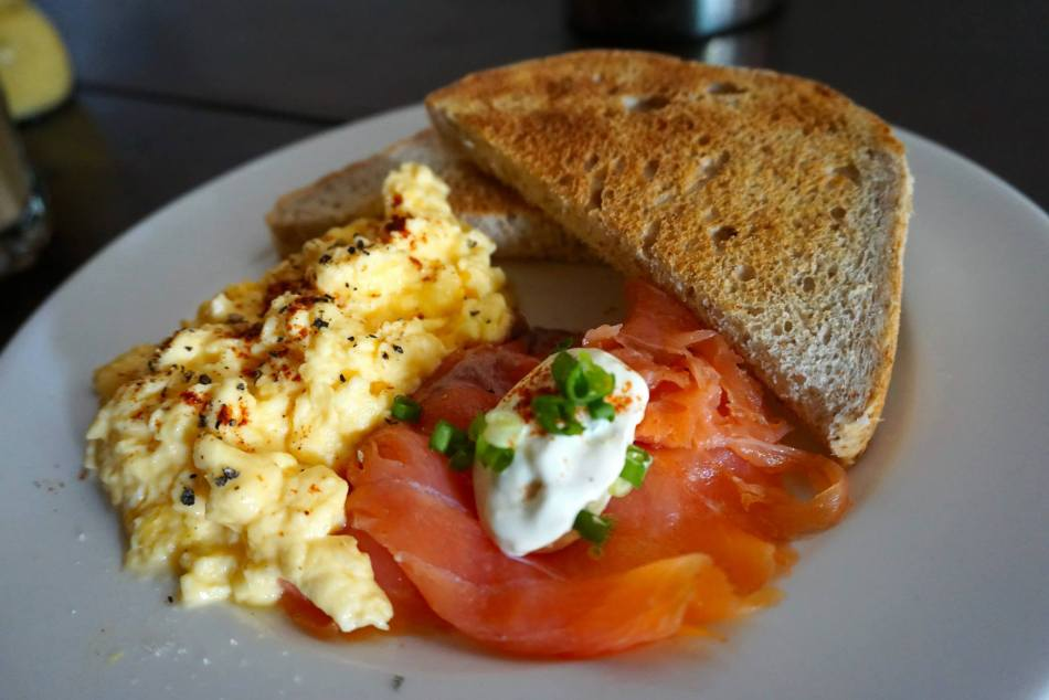 Smoked Salmon and Eggs with Toast