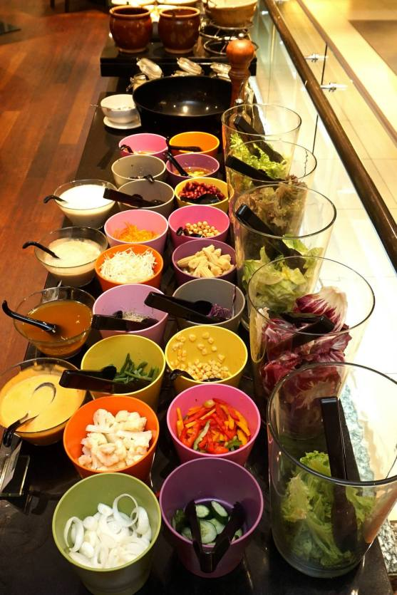 While the salad bar also had loads of choices!