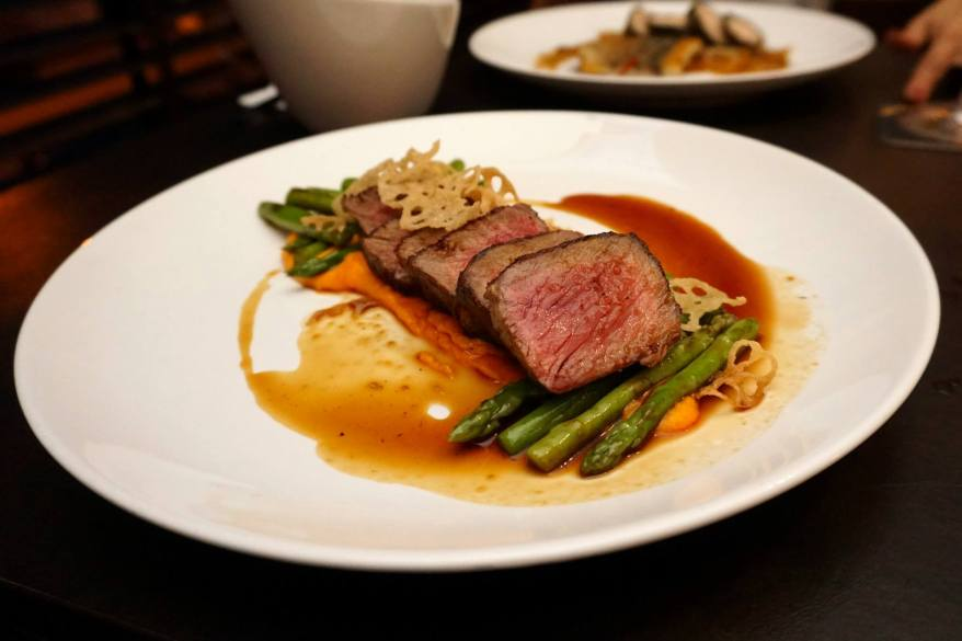 Beautiful and delicious medium rare Black Angus! This has to be my favourite dish at The Point!