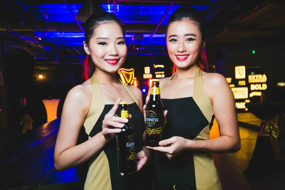 There were special promos for Guinness draught and Guinness Foreign Extra Stout