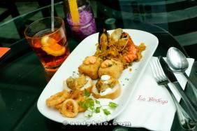 The savoury food platter