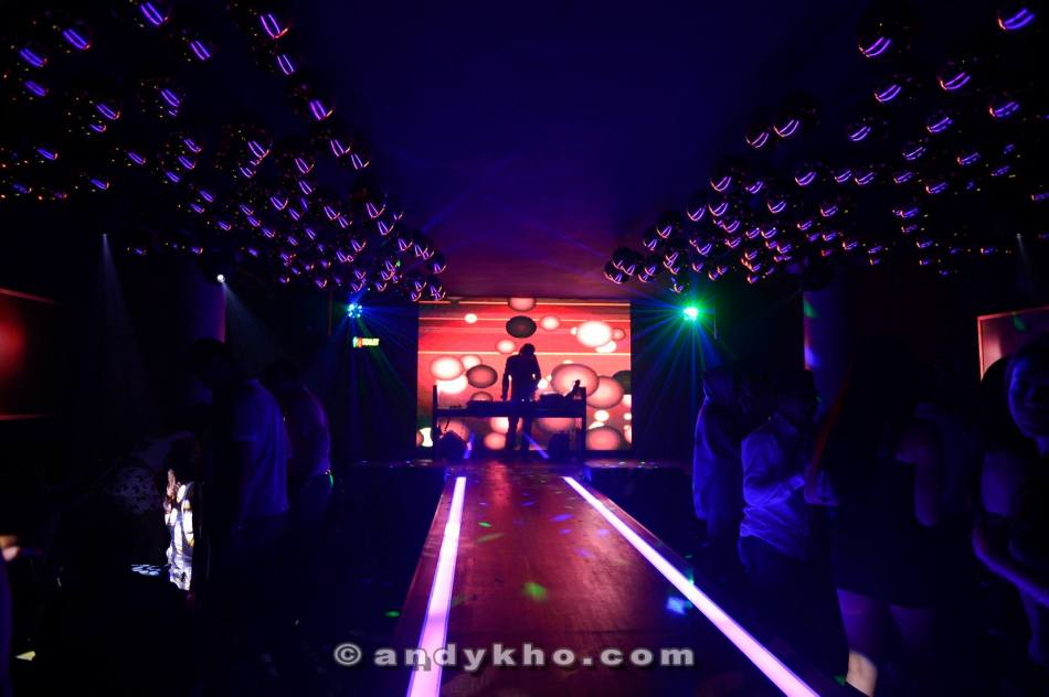 The interior features plush sofas on the sides and a runway in the centre making this an ideal place for fashion shows