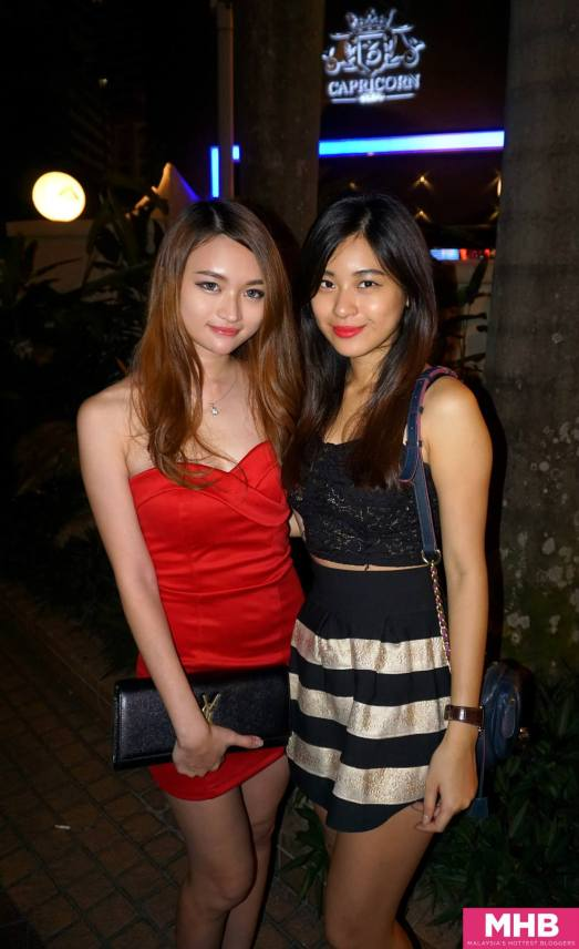 Spotted Hanli Bubu and her cute friend outside the club