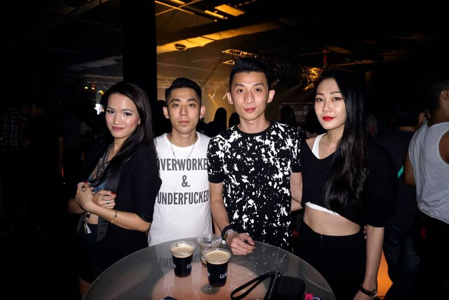 MHB's Stephanie Lim with Howie, Alvin aka DJ Goldfish and girlfriend