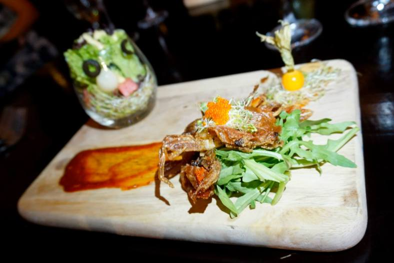 Signature Summer Salad with Softshell Crab