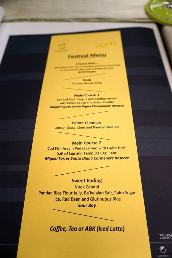 I was quite intrigued by the menu. Seemed like it was going to be a fusion feast!