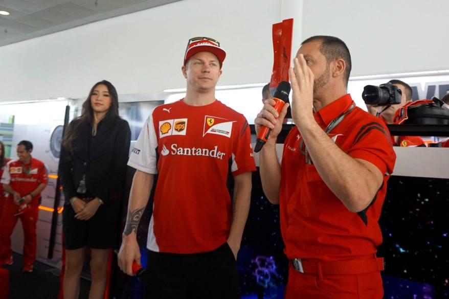 Kimi Raikonnen dropped by to visit us and answer some questions about Formula One and take some pics with some lucky fans