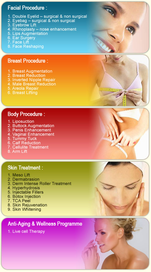 List of treatments available at Esme