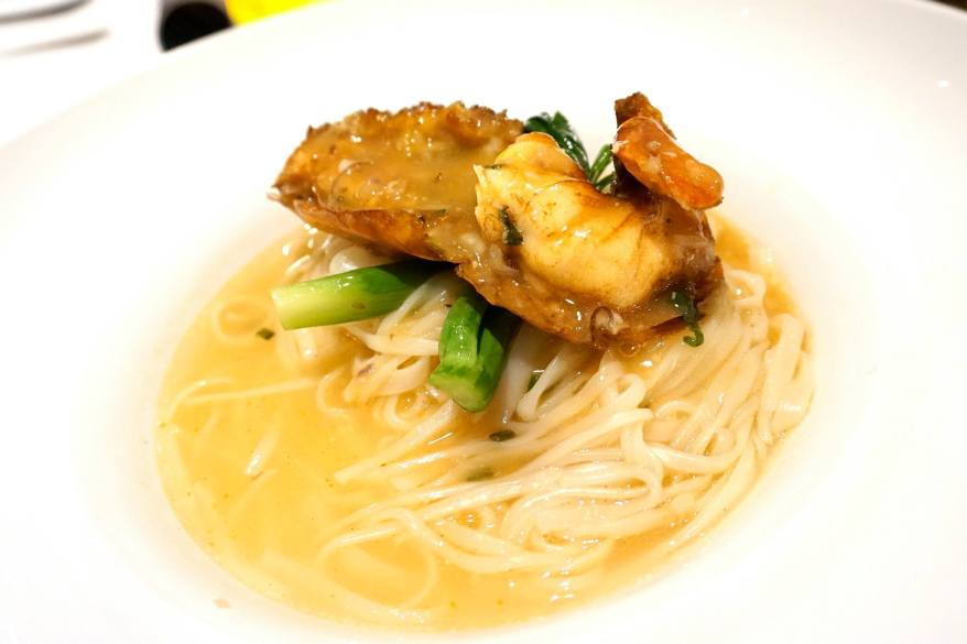 Steamed king prawns with Chinese wine & wheat vermicelli