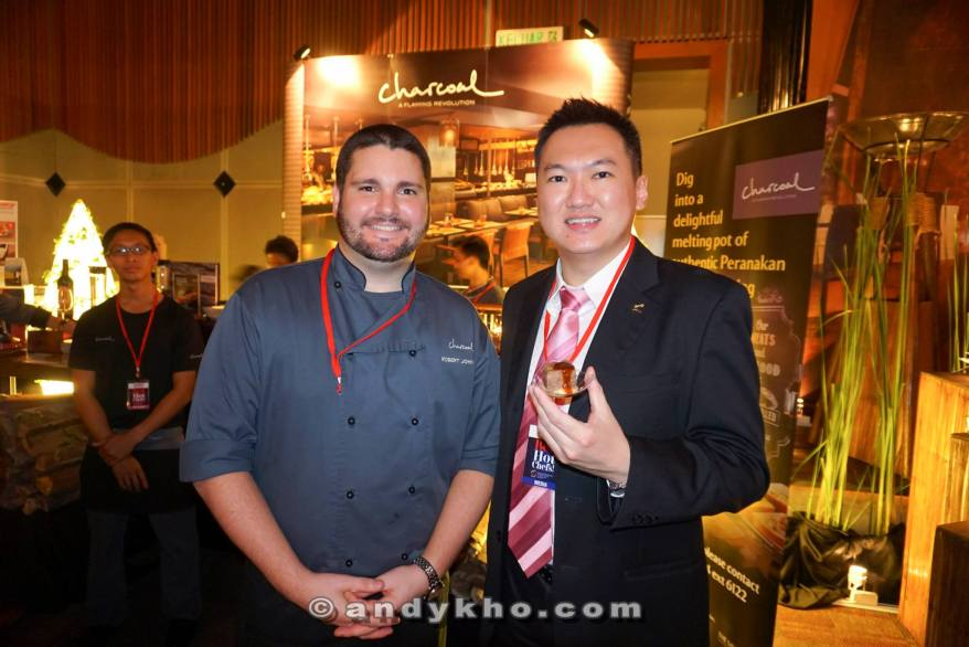 With the chef from Charcoal in Saujana Resort