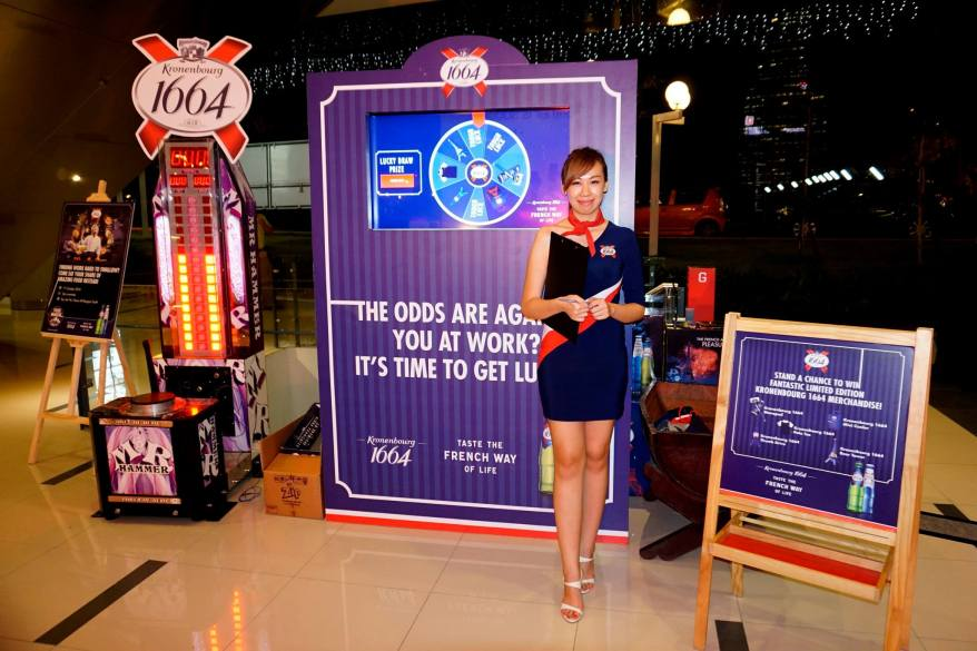 There was also Kronenbourg 1664's  Hammer Machine and their Wheel of Fortune which guests could spin to earn themselves some cool prizes from Kronenbourg 1664