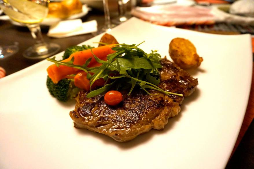 Ribeye -Prepared inMonte's way to retain its taste, simply grilled and served with seasonal vegetables - RM63.00