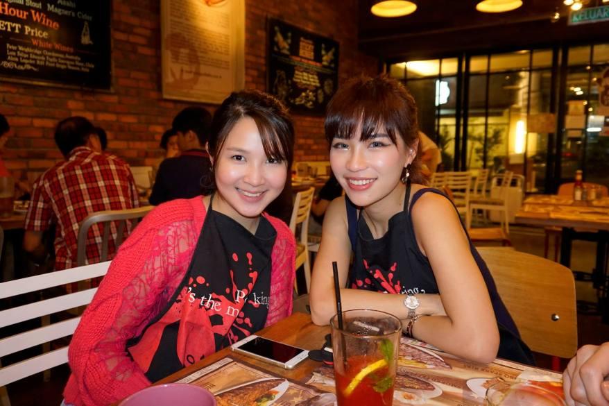Happy faces - Povy Teng and Karen Kho