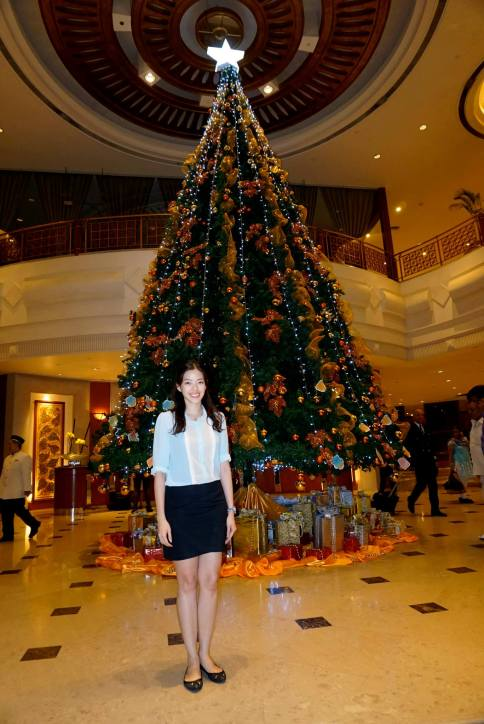 First thing we noticed when we arrived at the hotel was the tall Christmas tree in the lobby!