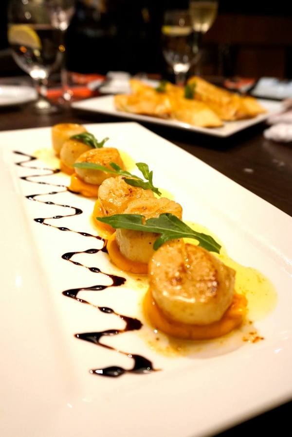 Juicy Seared Sea Scallops - Sweet potato puree, tarragon butter (1/2 dozen) - RM39.00 We couldn't get enough of this one! Perfectly cooked scallops that were firm and juicy! Don't share this one among too many people.