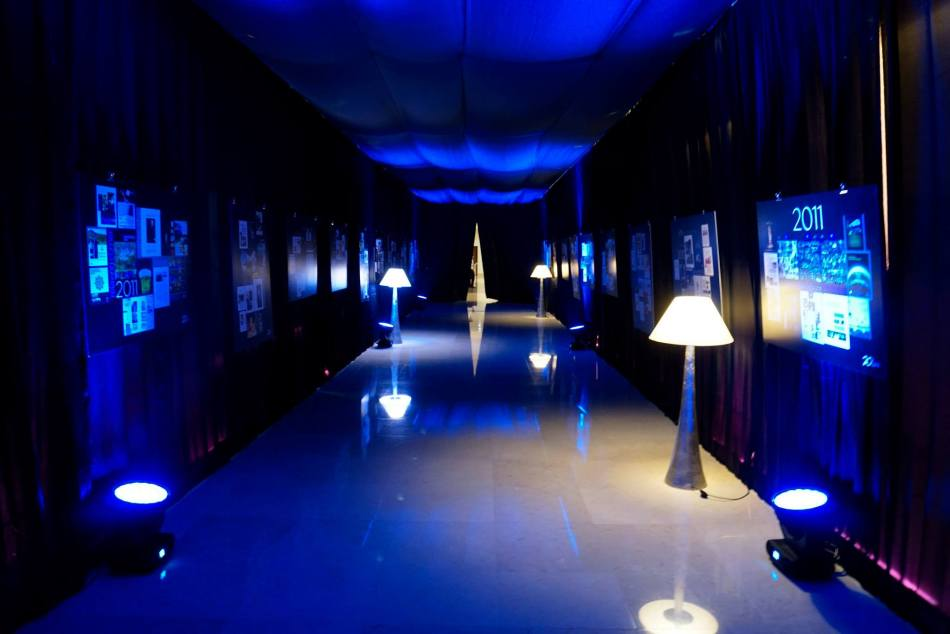 The entrance to the ballroom was transformed into a timeline featuring some important moments from Hospitality Asia's two decade history