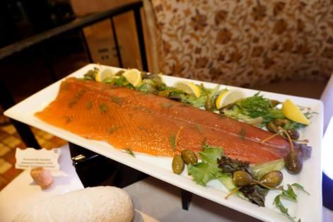 Homemade smokey rosemary salmon with orange cinnamon drizzle