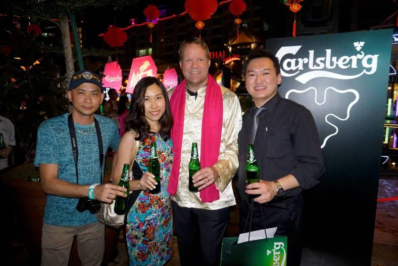 Us with Carlsberg Managing Director Henrik Anderson