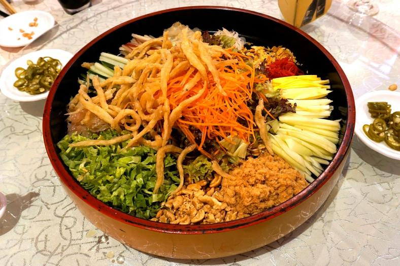 Yee Sang with Silver Fish