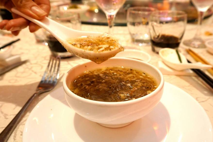 Braised Bird's Nest with Fresh Crab Meat and Truffle