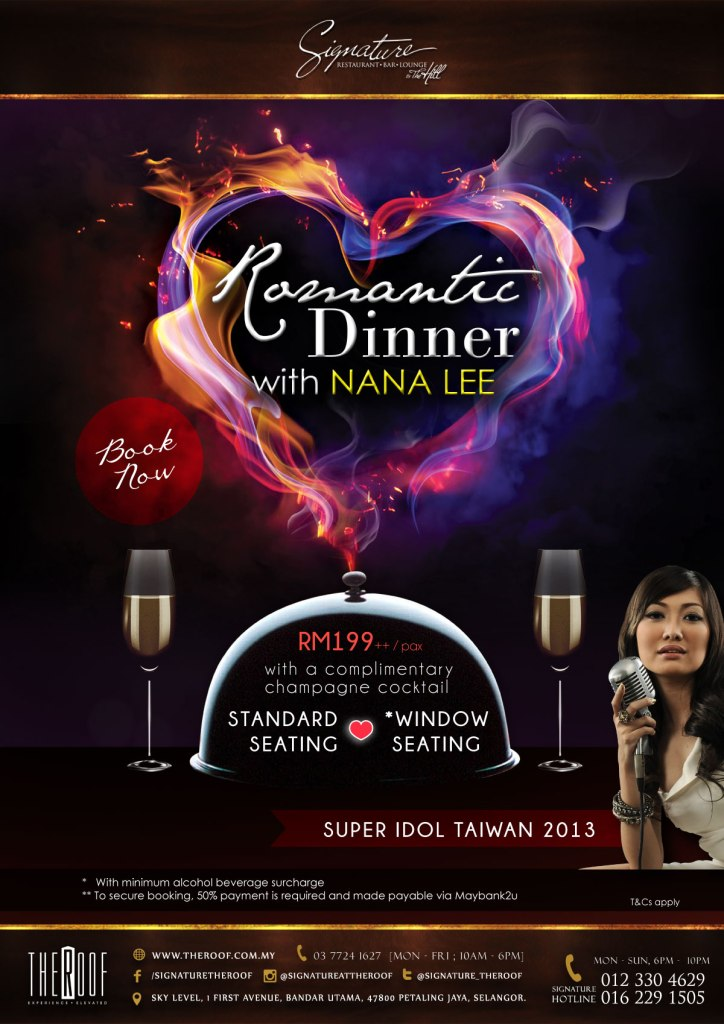 Valentine's Day dinner at Signature at The Roof, First Avenue Bandar Utama