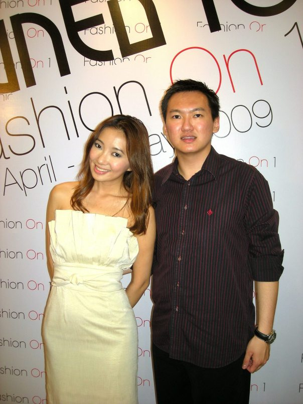 With actress Chelsia Ng