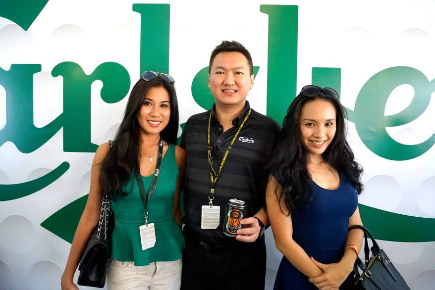 With Miss World Malaysia 2012 Lee Yvonne and Malaysian actress Jasmine