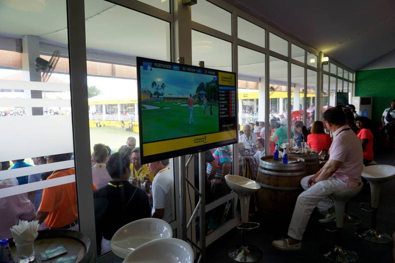 We got to enjoy lots of good food throughout the day while watching the action on the TV screens