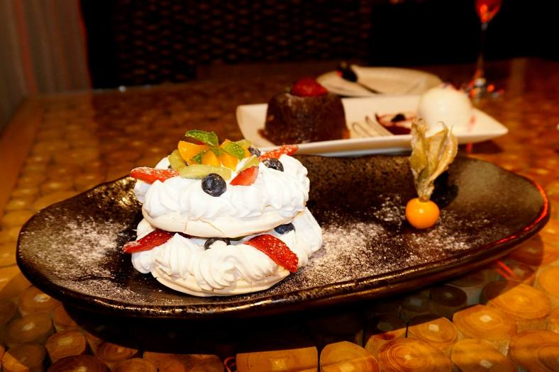 Pavlova – a meringue based dessert with a crisp crust and soft light filling inside
