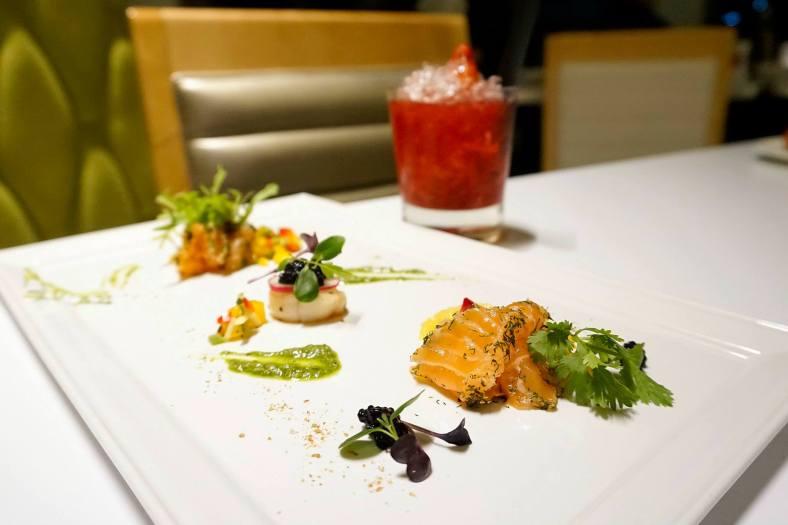 Seductive Seared Scallop with Scrumptious Salmon