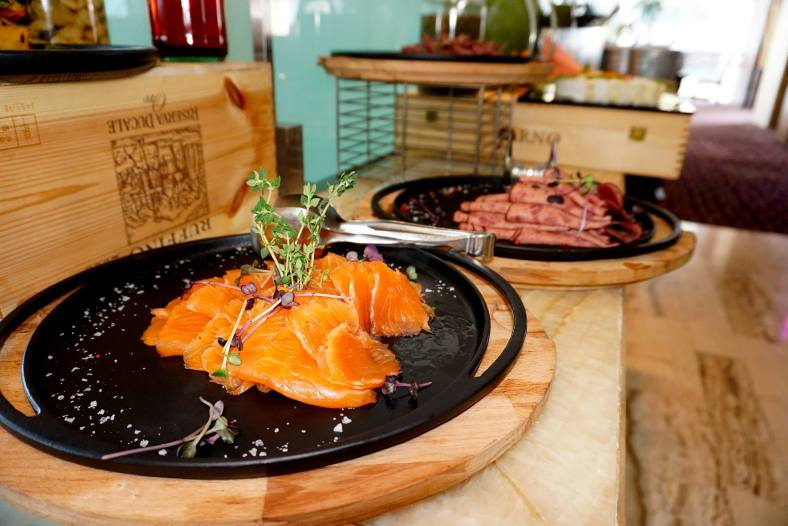 Smoked salmon and duck!