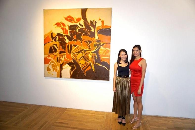 MK and the usherer with the centrepiece of the exhibition
