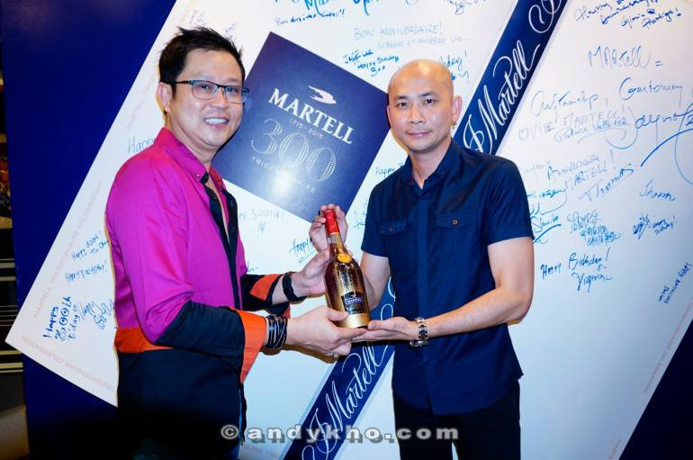 Andy won himself a limited edition bottle of Martell VSOP