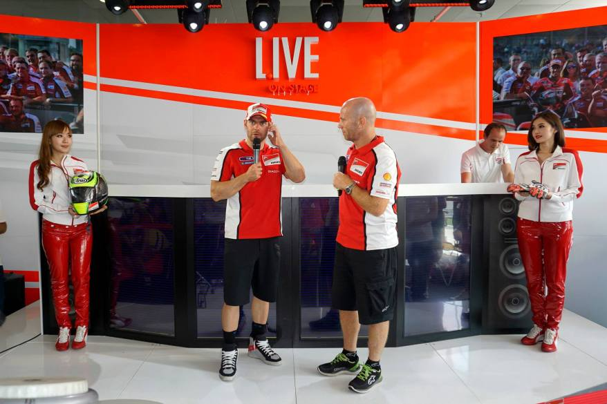 After which Ducati rider Cal Crutchlow came up to the suite much to the excitement of the guests