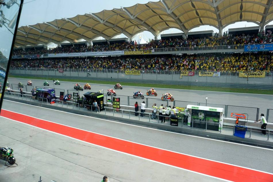 And we could also watch the action from the windows which offered a great view of the starting straight