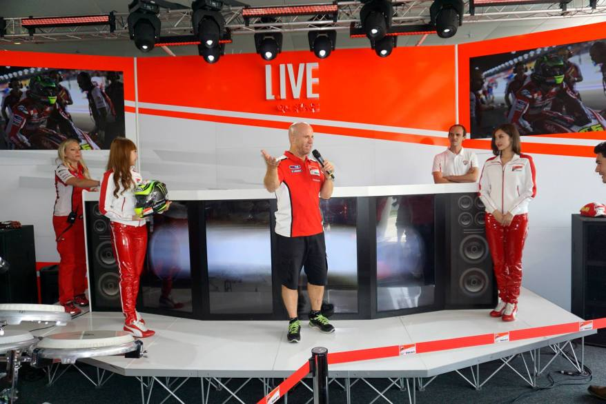 A spokesperson for team Ducati dropped by to share some info about Moto GP and the team and the riders
