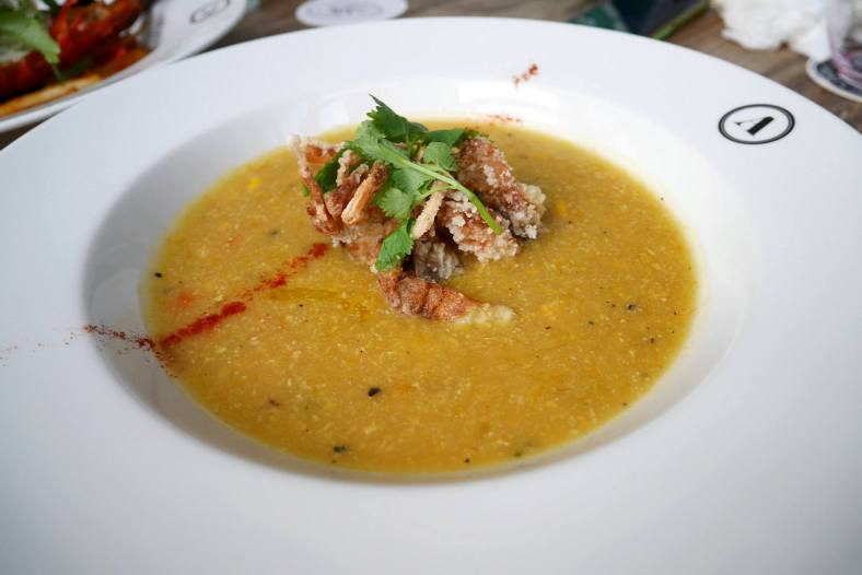 Soft Shell Crab Corn Chowder