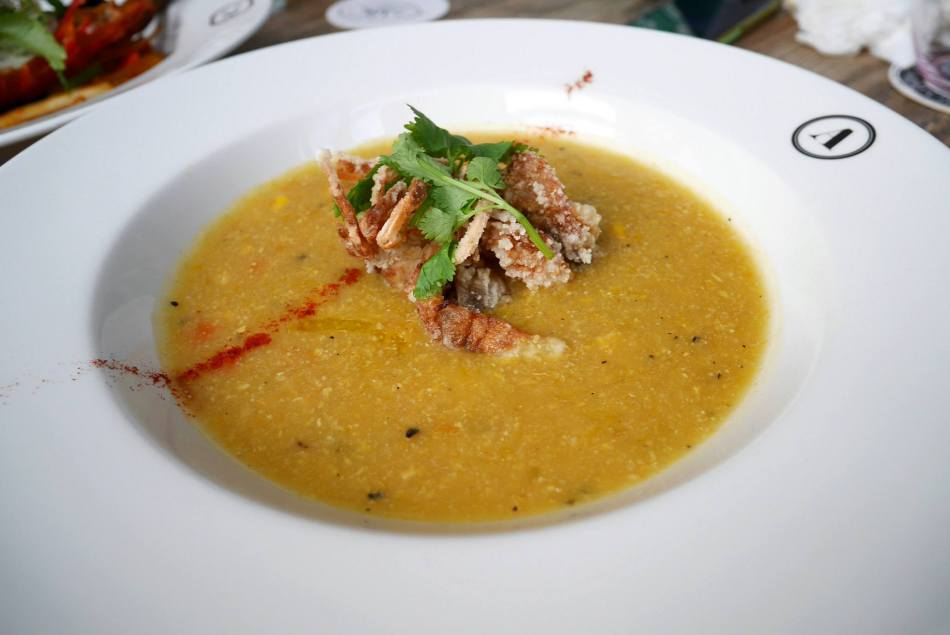 Soft Shell Crab Corn Chowder